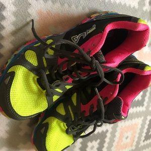 Fila multi colored neon athletic shoe